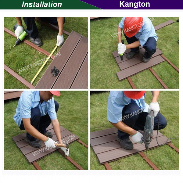 Easy-Install Outdoor WPC DIY Decking Tiles (WPC DIY Decking)